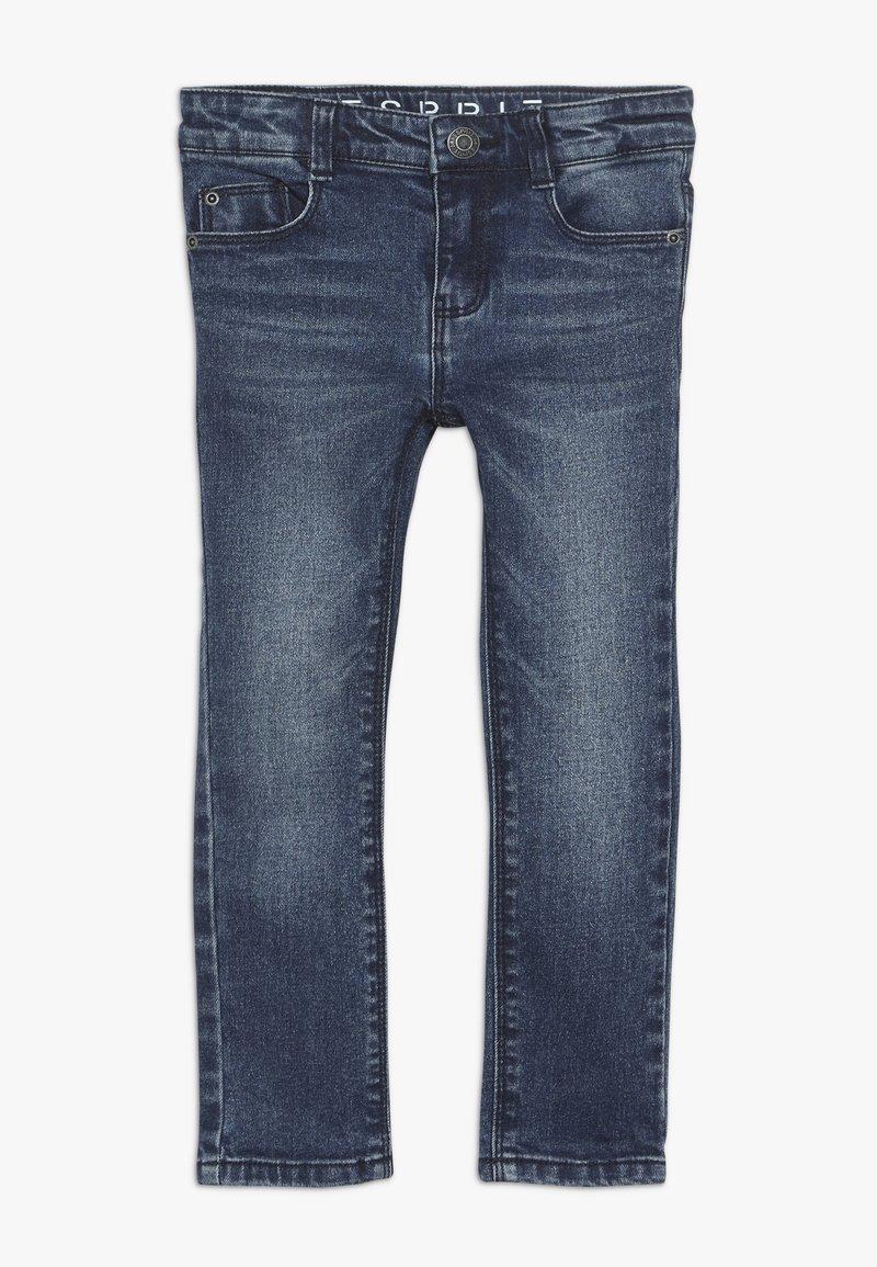 Esprit - PANTS - Jeans Slim Fit - dark indigo denim