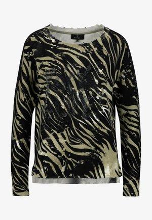 Sweatshirt - salbei gemustert
