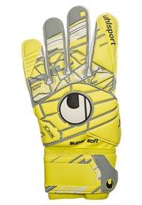 Uhlsport - ELIMINATOR SUPERSOFT  - Goalkeeping gloves - fluo yellow/griffin grey - 1