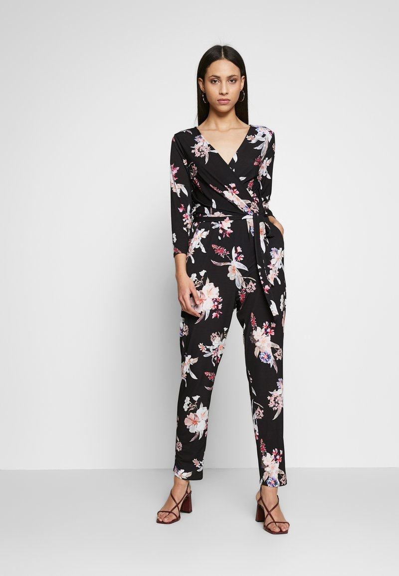 Wallis Tall - MAGNOLIA FLORAL 3/4 SLEEVE - Haalari - black