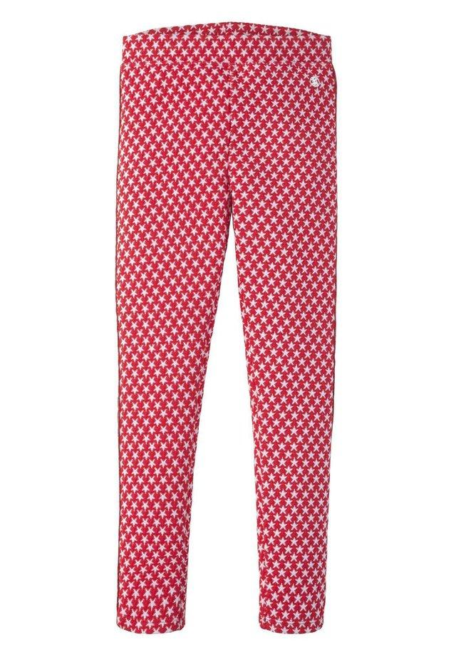 HOSEN & CHINO LEGGINS MIT STERNEN-MOTIV - Leggings - Trousers - hibiscus red