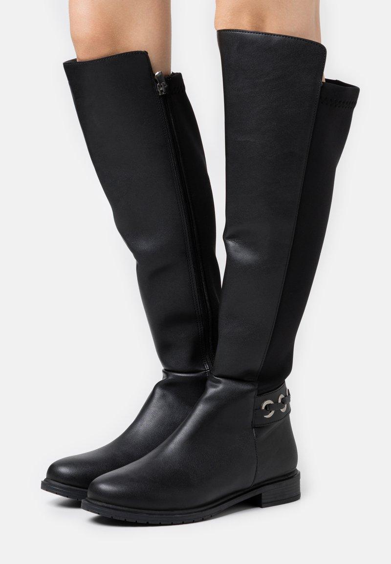 Trendyol - Kozačky nad kolena - black