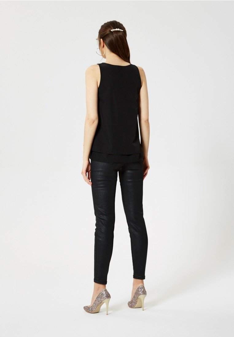 myMo at night Débardeur - black - Tops & T-shirts Femme hPqby