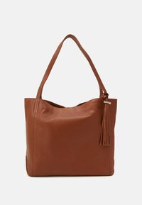 Zign - LEATHER - Tote bag - cognac - 0