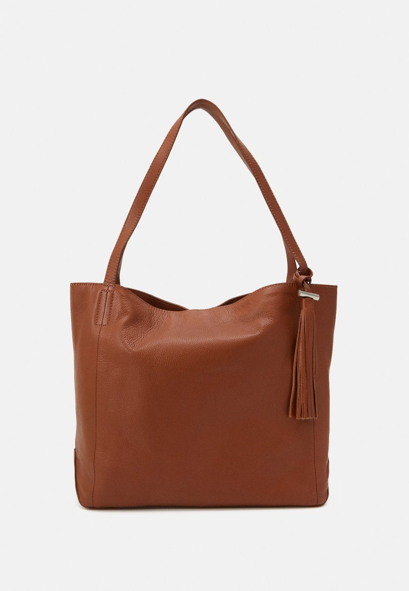 Zign - LEATHER - Tote bag - cognac