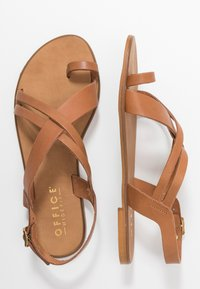 Office Wide Fit - SERIOUS - T-bar sandals - tan - 3