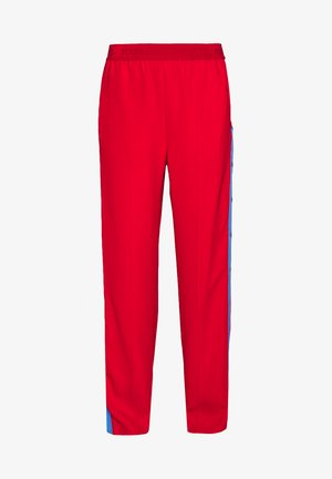 WIDELEG SNAP PANTS - Trousers - red