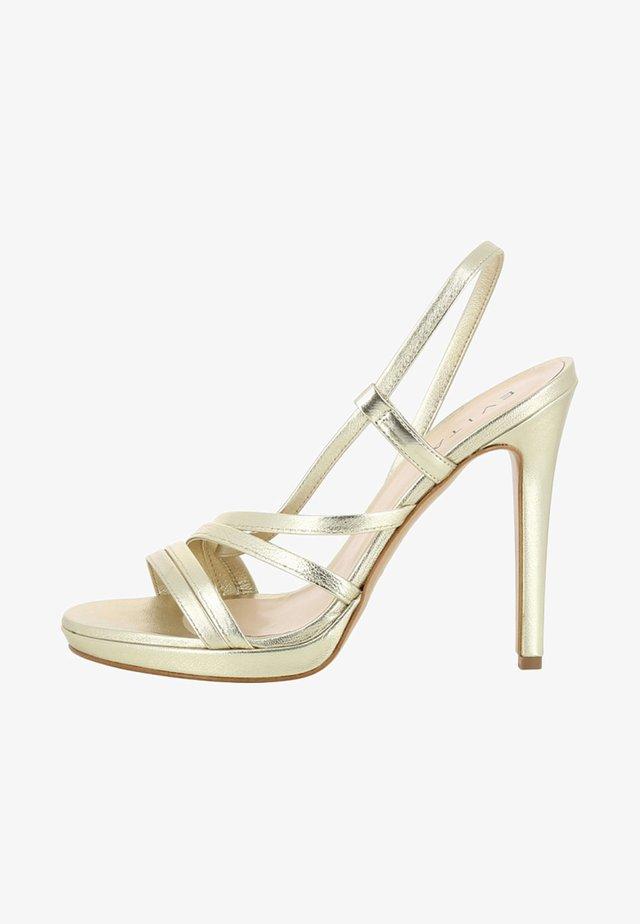 EVA - Sandali con tacco - gold