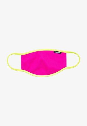 Stoffen mondkapje - pink/yellow