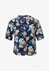 Abercrombie & Fitch - RESORT POCKET TEE - Button-down blouse - navy - 4