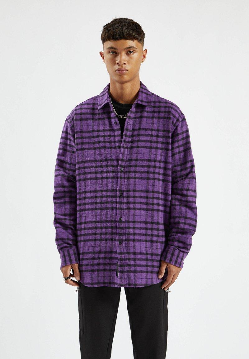 PULL&BEAR - Shirt - purple