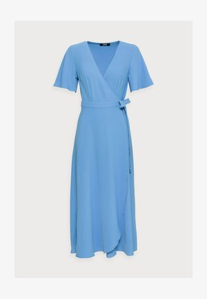 WRAP SOLID DRESS - Day dress - blue