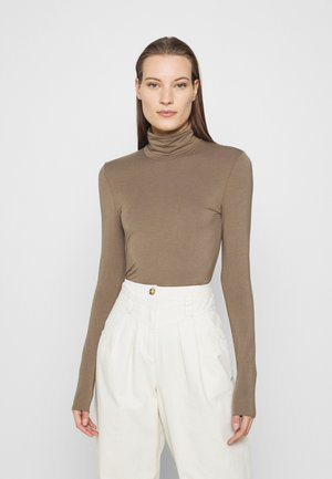 TURTLENECK - Long sleeved top - mole dark