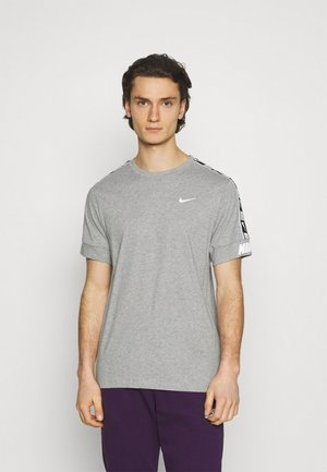 REPEAT TEE  - T-shirt med print - grey heather/white