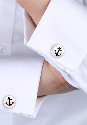 ANKER - Cufflinks - silver-coloured