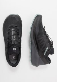 Salomon - SENSE RIDE 3 - Trail running shoes - black/ebony/lead - 1