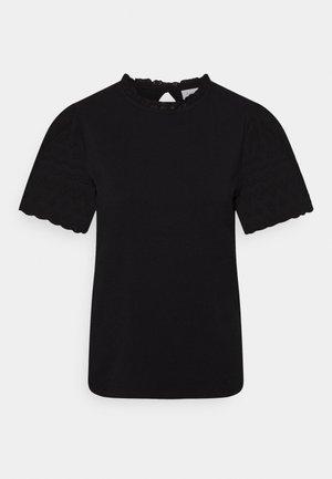VISELVA - Print T-shirt - black