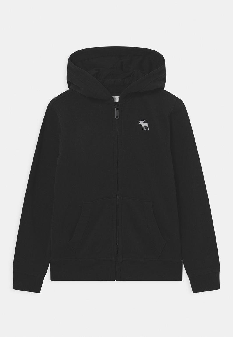 Abercrombie & Fitch - Zip-up sweatshirt - black
