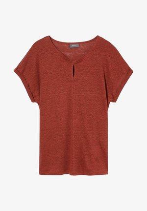 Leinen - T-shirt z nadrukiem - brown/dark red