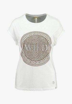 WT CIRCLE - Print T-shirt - weiss