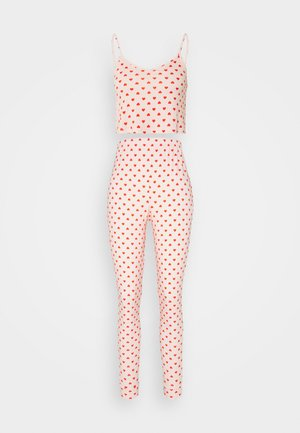 HEART CAMI AND JOGGER SET - Pyjamas - pink