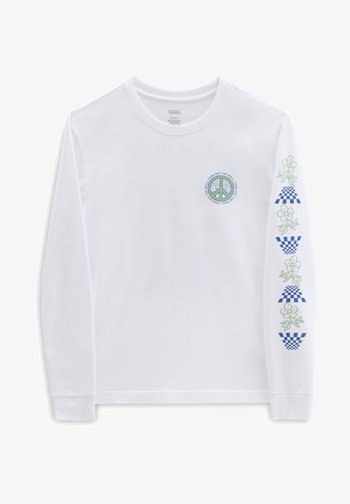 WM PEACE PROPERTY LS BF - Long sleeved top - white