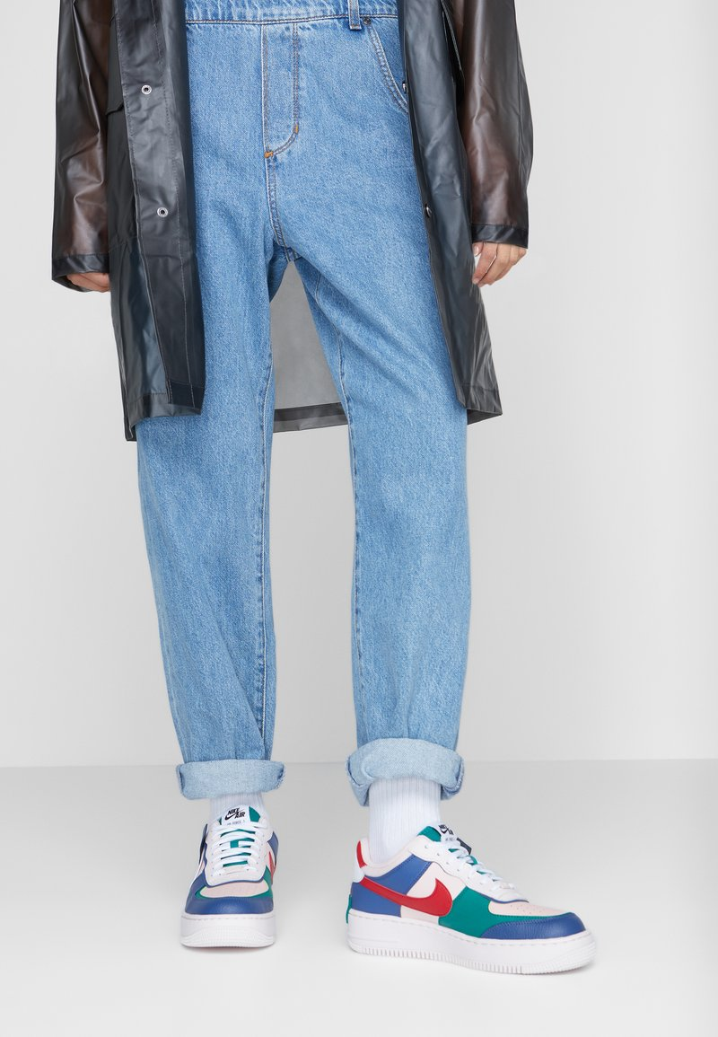 Nike Sportswear - AIR FORCE 1 SHADOW - Sneakers laag - mystic navy/white/echo pink