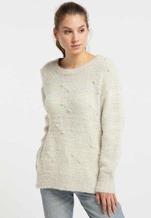 Sweter - wollweiss