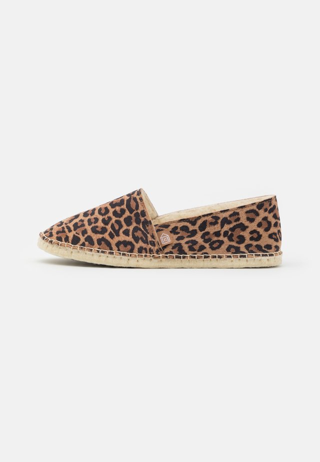 PANTOUFLE CLASSIC PRINT - Slippers - brown