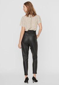 Vero Moda - PAPERBAG - Trousers - black - 2