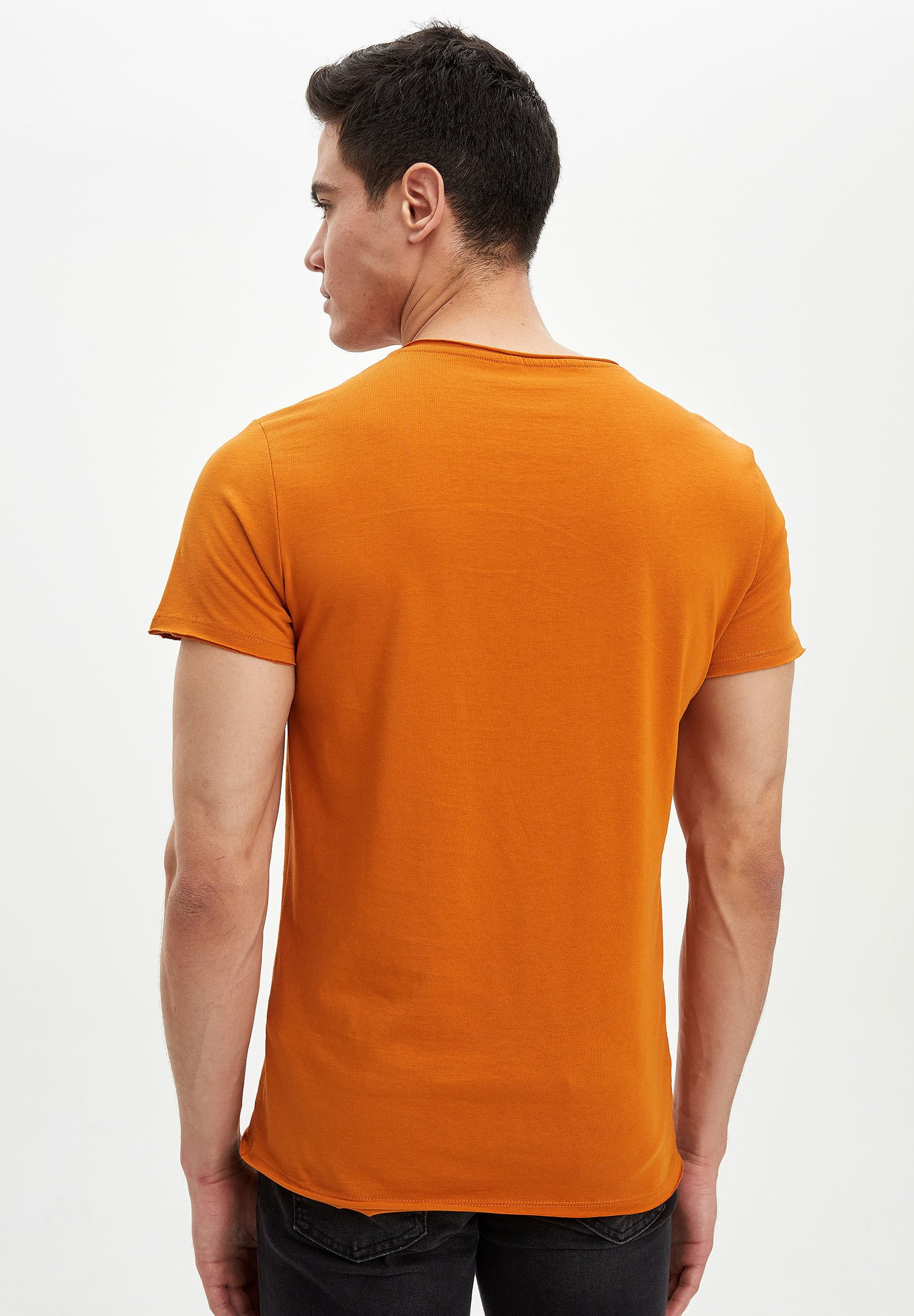 DeFacto Print T-shirt - orange grX9m