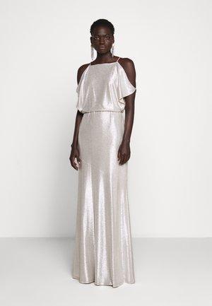 LONG - Společenské šaty - champagne/silver
