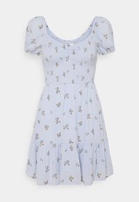 Hollister Co. - CHAIN SHORT DRESS - Day dress - blue - 0