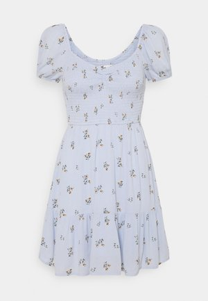 CHAIN SHORT DRESS - Robe d'été - blue