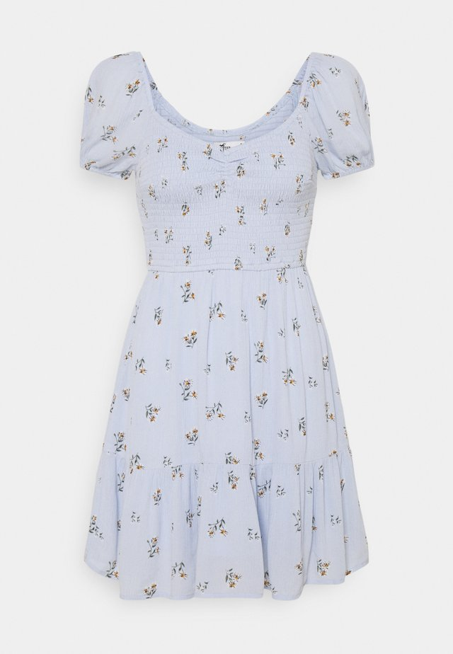 CHAIN SHORT DRESS - Vardagsklänning - blue