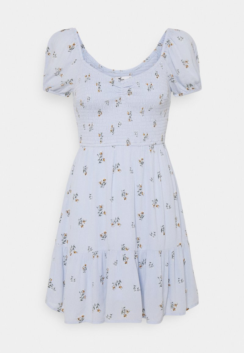Hollister Co. - CHAIN SHORT DRESS - Day dress - blue