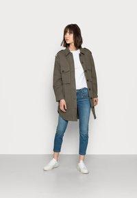 Mos Mosh - BERLIN SATIN JEANS - Slim fit jeans - blue - 1
