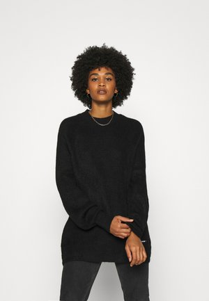 LOFTY YARN CREW NECK - Jumper - black