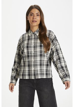 EJVINAPW  - Button-down blouse - check, night sky
