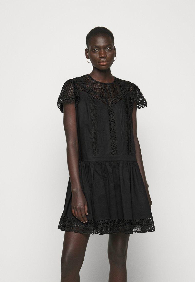 TWINSET - ABITO CON SOTTOVESTE  - Day dress - nero