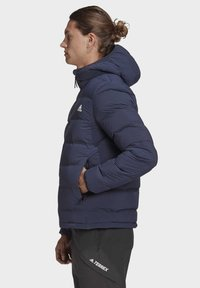 adidas Performance - HELIONIC SOFT HOODED DOWN JACKET - Down jacket - blue - 5