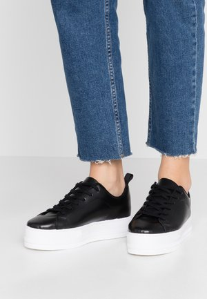 LEATHER - Sneakers - black
