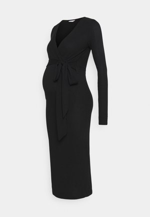TESS MIDI DRESS - Žerzejové šaty - black