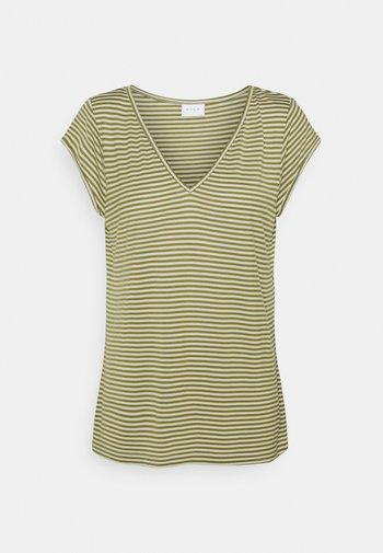 VISCOOP  - Basic T-shirt - green olive/optical snow