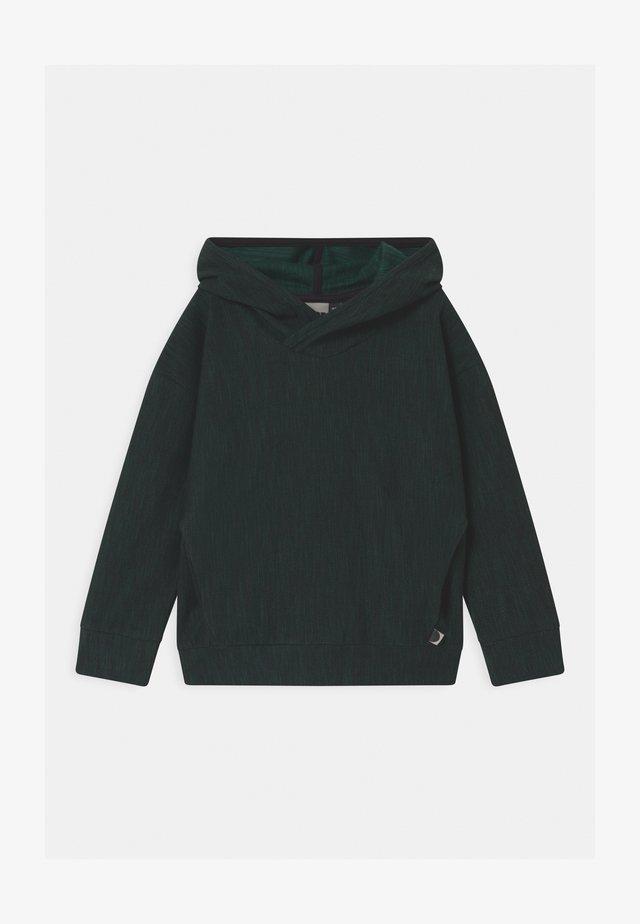 UNISEX - Sweat à capuche - black/school green