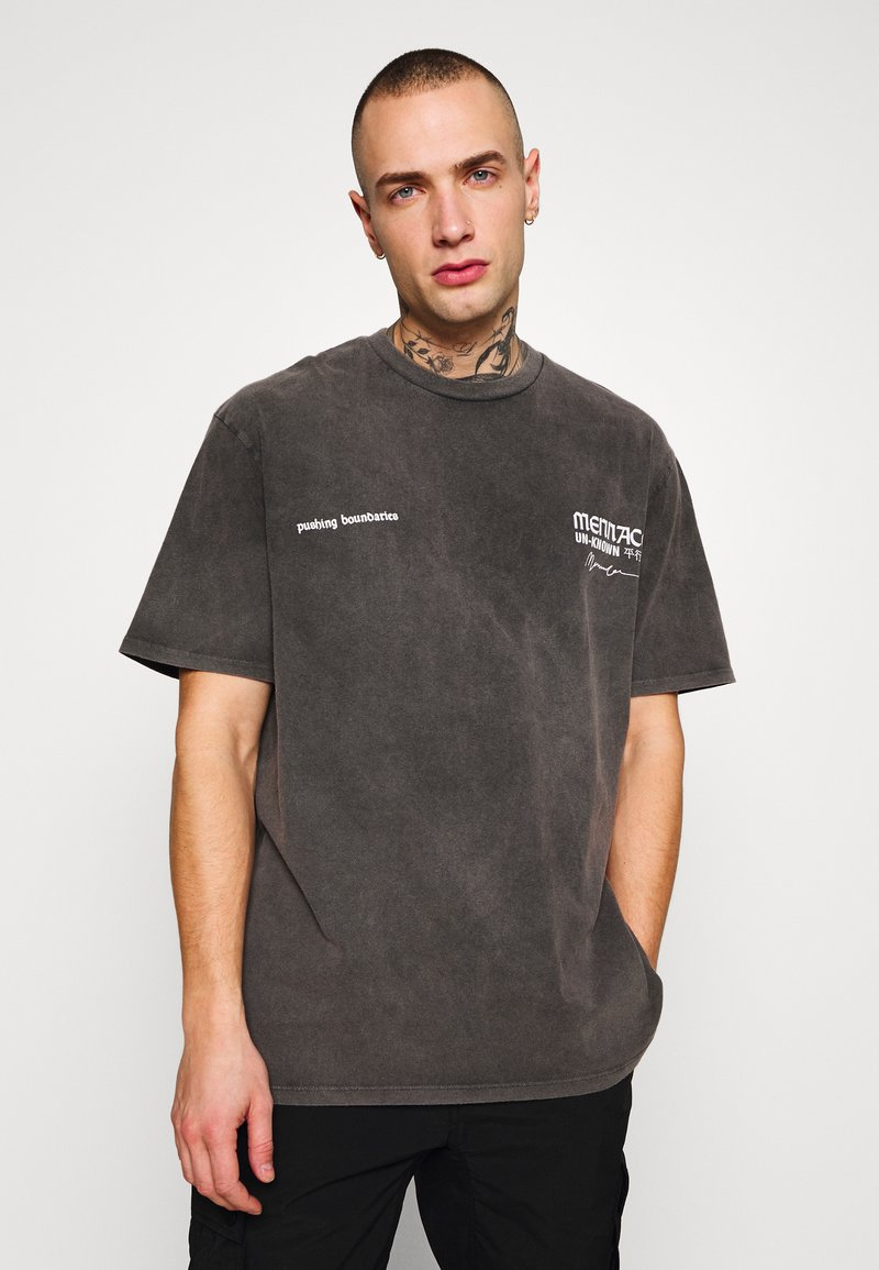 Mennace - UNKNOWN PLANETS TEE - T-shirt con stampa - black