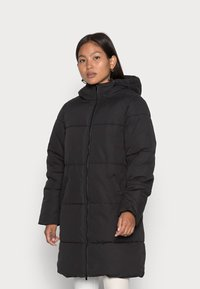 VILA PETITE - VITRUST  LONG JACKET - Winter coat - black - 0