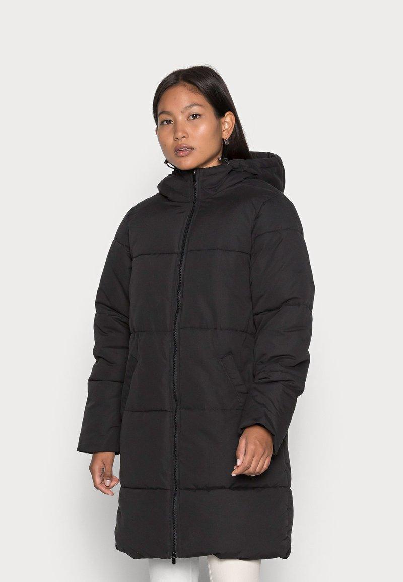 VILA PETITE - VITRUST  LONG JACKET - Winter coat - black