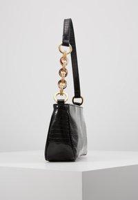 Topshop - SPIN SNAKE SHOULDER - Handbag - black - 3
