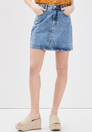 Denim skirt - denim double stone